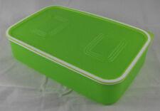 Tupperware A 153 Quadro Dose Behälter Box mit Deckel 1,1 l flach Grün Neu OVP