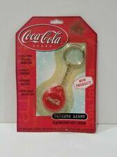 Vintage 1992 Authentic Coca Cola Coke Gold Plactic Key Chain Fob Pendant