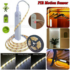 USB Rechargeable Battery LED Strip Light Wireless PIR Motion Sensor Closet Stair