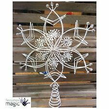 *Gisela Graham Iridescent Christmas Wire Star Festive Tree Topper Decoration*
