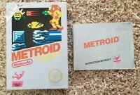 Metroid Nintendo NES Original Manual and REPRO Box