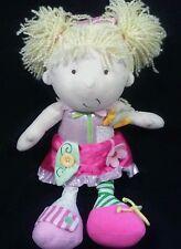 Manhattan Toys Plush Dress Me Doll Blonde Learn to Tie Zip Button T8
