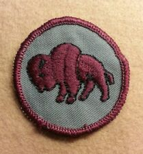 BSA  PATROL MEDALLION PATCH - BISON - 1972 - 1989  - PRE-OWNED  A00288