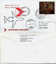 Aerogramma racc. 1° volo (SAN MARINO)Roma->Vienna 6.9.1971-AUSTRIAN DC9(810AC)