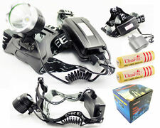 1800Lm CREE XML L2 T6 LED Headlamp Rechargeable Head light Lamp+18650 Charger UK