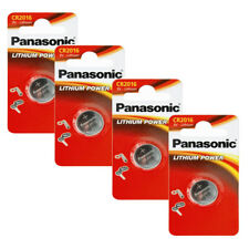 4X Panasonic CR2016 Lithium Coin Batteries 3V For PC Bell Remote Key Fob Watches
