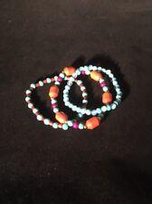 Set of 3 New Wood and Stone Bracelets US Seller