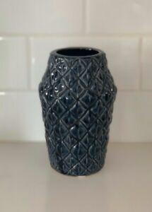 Bloomingville - Navy Ceramic Vase