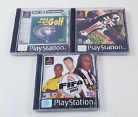 X3 PlayStation Ps1 Sports Games Bundle PGA Golf Fifa 2003 Power Soccer 2