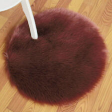 Winter Thick Round Faux Fur Cushion Fluffy Warm Chair Pad Floor Mats Modern Soft