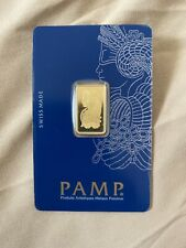 5 gram Gold Bar PAMP Suisse Lady Fortuna Veriscan® In Assay