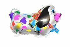 WK009 Helium Folienballon Airwalker Hund Silber Geburtstags Luftballons balloon