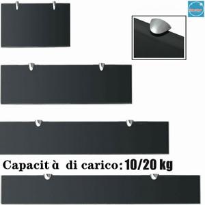 Mensola Galleggiante in Vetro Ripiano Muro Espositore Scaffale Pannello scaffale