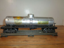 LIONEL O GAUGE # 2555 SUNOCO TANK CAR WITH AUTOMATIC COUPLERS