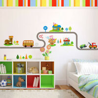 1pcs Highway Cars Wall Stickers Kids Baby Nursery Bedroom Waterproof Decor New
