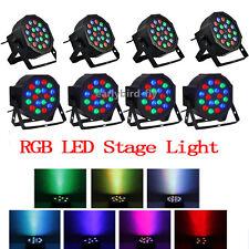 8x RGB PAR64 DMX512 DJ Par LED Light Stage Lighting Party Club Bar 18X3W