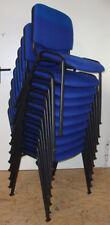Niceday Besucherstühle ISO Basic Stapelstuhl Standard Blau Stuhl Stühle Metall