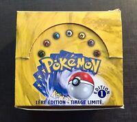(X1) Pokemon Booster Box French Set Base 1st Edition VUOTO EMPTY