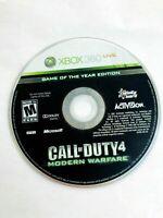 Call of Duty 4: Modern Warfare (Microsoft Xbox 360, 2007) Disc Only