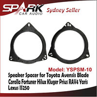 SP Custom 165mm Front Car Speaker Spacer For Toyota Avensis Blade Fortuner Prius
