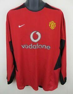 Nike 2002-04 Manchester United Football Shirt L/S Soccer Jersey Long Sleeve XXL