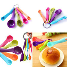 5X Measuring Spoon Plastic Teaspoon Scoop Tablespoon Utensil Kitchen ToolS FG