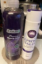 Elysium Dead Salts Salts Bath & Shower Gel + RadianB Muscle Soak Lavender
