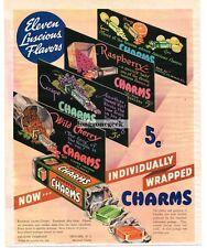 1937 CHARMS Candy Raspberry Grape Wild Cherry Assorted art Vtg Print AD