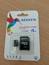 ADATA MICROSDHC CARD WITH ADAPTER 4 GB NEW