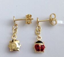 "ORECCHINI "" COCCINELLE "" IN ORO 9KT - 9KT SOLID GOLD LADYBIRDS  EARRINGS"