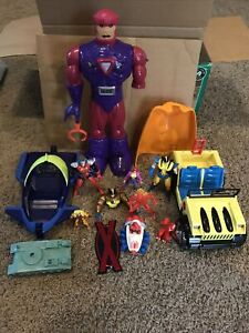 Vintage Marvel Toy Biz Lot 1992-1995 x-men Wolverine jeep sentinel blackbird jet