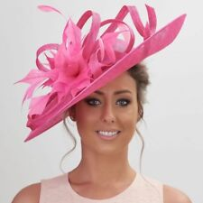 Stunning Sinamay Hatinator..large statement  disc for Wedding,races,occasion