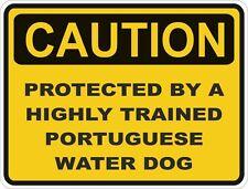 Dog Breed Portuguese Water Dog Caution Sticker Pet for Bumper Car Door Locker