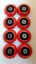 8 HiLo 76 80mm Inline Skate Wheels + Bearings-indoor roller rink hockey soft