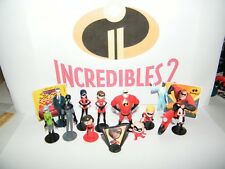 Disney Incredibles 2  Movie Figure Set of 15 with New Characters,Cycle and Bonus