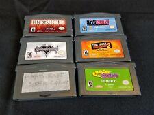 Gameboy Advance Lot 6 Games Mario Kart Tony Hawk Kingdom Hearts Crash & Spyro