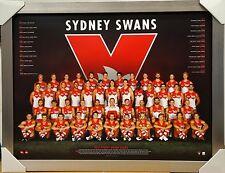 SYDNEY SWANS  2017 AFL TEAM PRINT POSTER FRAMED + COA - FRANKLIN, HANNEBERY