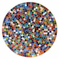 Marroquí Mesa de Jardín Auténtico Piedras Mosaico Bistro Redondo Color D60cm