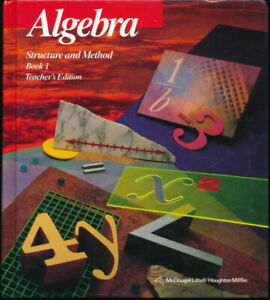 Algebra : Structure and Method, Book 1 (Hardcover, Teacher's Edition)