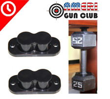 Magnet Concealed Pistol Gun Holder Mount under table desk bed 25lb Rating 2 Pack