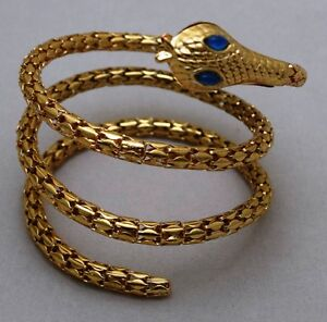 Egypt Snake Copra Bangle Bracelet Armlet Upper arm Cuff Jewelry Halloween