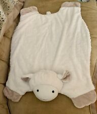 Pbk Pottery Barn Kids Lamb Ply Blanket Floor Mat Plush Security Sheep Loveywhite