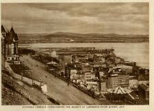 Dufferin Terrace in Quebec City, Canada: Authentic 1930  Photogravure View