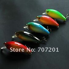 A0062 SET 8 ARTIFICIALI SPINNING CRANK BAIT OLOGRAFICI PLASTIC LURES PIKE BASS