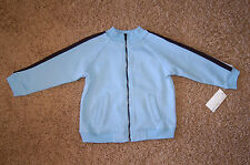 NWT Boys Greendog Light Blue Mock Turtle Neck Track Jacket Size 24M Nice LQQK!