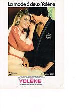 PUBLICITE  1979    YOLENE   peignoirs chemises de nuis Kimono