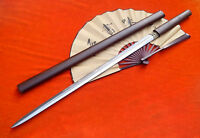 Chinese sword,Tang sword,Hand Forged,Damascus steel blade,Rosewood scabbard