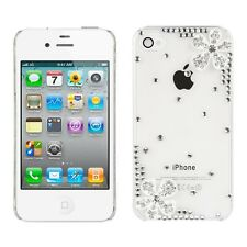 kwmobile Strass Schutz Hülle Blume Strass Ecke für Apple Iphone 4 4S Case Cover