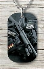 """Pendant and """"Free Chain"""" -lw93nt Swat Police Guns Dog Tag"""