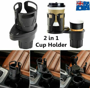 Adjustable 2in1 Car Seat Cup Holder Water Bottle Drink Coffee Cleanse Storage AU